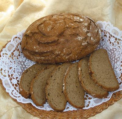 Хлеб донской из муки пшеничной 1-го сорта по ГОСТу.
